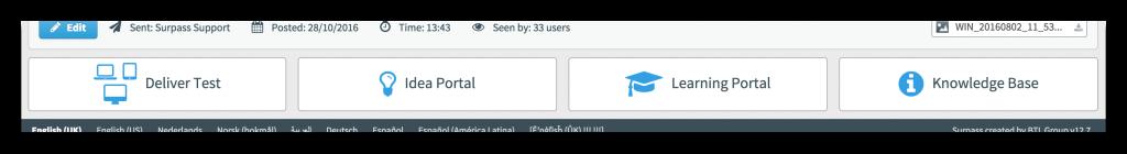 Learning Portal Button Screenshot