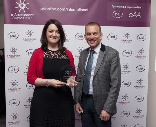 Martha Gibson EBS accepting award