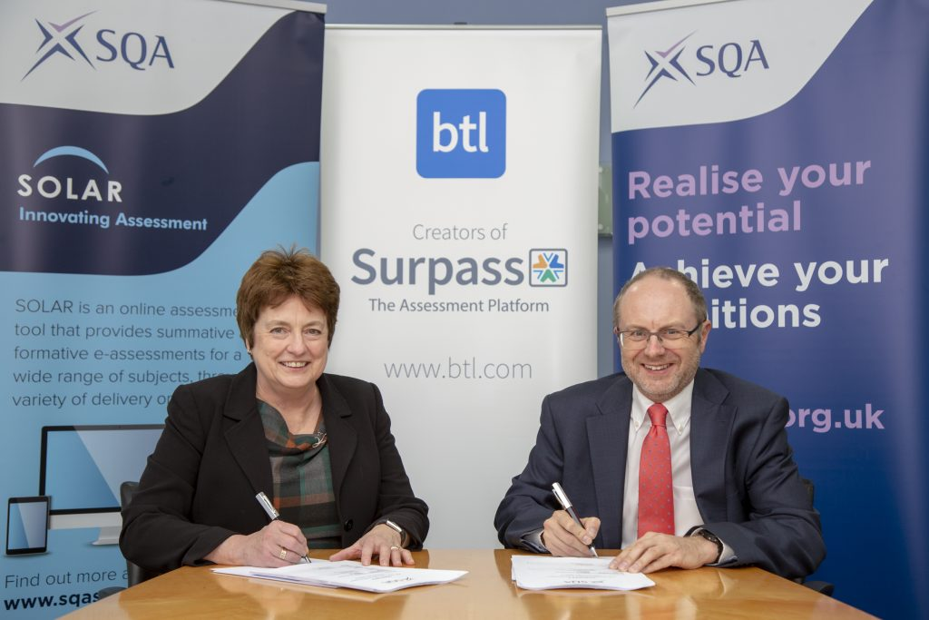 Contracts being signed by members of BTL and SQA