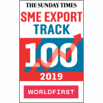 Sunday Times SME Export Track 100 badge